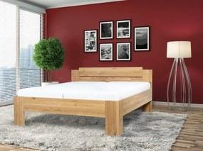 Ahorn Masívna posteľ GRADO so schodkovitým čelom 100 x 200 cm