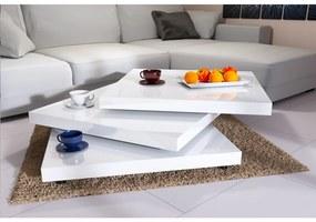 InternetovaZahrada - Konferenčný stolík NY – 60 x 60 cm – vysoký lesk biely