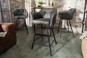 Dizajnová barová stolička Giuliana, antik sivá