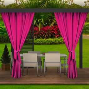 Záhradný záves ružový