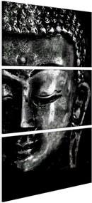 Obraz na plátne Bimago - Grey Buddha 30x60 cm