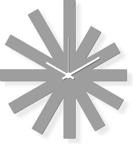 Dizajnové nástenné hodiny: Gray Star - Šedé plexi 30 x 40 cm | atelierDSGN