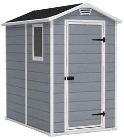 InternetovaZahrada - Záhradný domček MANOR 4x6 šedá + biela