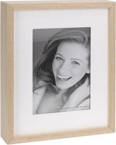 Fotorámček Wood, biela + béžová