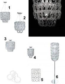 závesné stropné svietidlo Ideal lux ALBA 6x40W1x60W E14, E27