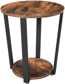 Sconto Prístavný stolík LET57X čierna/hnedá