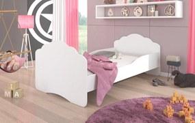Biela posteľ do detskej izby Juno 164x88 cm - Bez zásuvky
