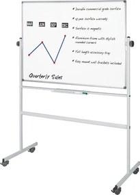 Mobilná otočná obojstranná magnetická tabuľa, 1200x900 mm