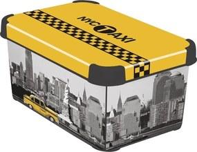 Curver box úložný dekoratívny S NEW YORK