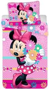 JERRY FABRICS Obliečky Minnie kvetiny Bavlna 140/200, 70/90 cm