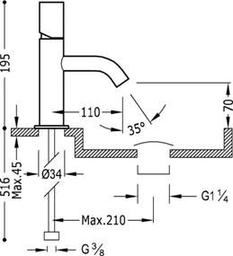 TRES - STUDY COLORS Umývadlová jednopáková batéria (26190301TNED)