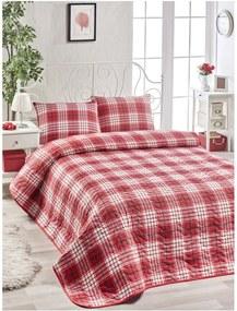 Set červenej bavlnenej prikrývky na posteľ a obliečky na vankúš Muro Gerro, 160 × 220 cm