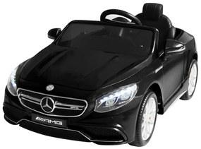 Elektrické autíčko Mercedes Benz AMG S63, čierne, 6 V