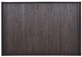 Tmavo hnedá kúpeľňová predložka z bambusu 60 x 90 cm