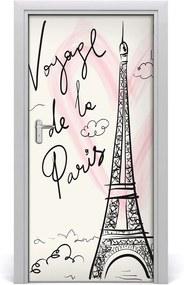 Fototapeta na dvere  Eiffelova veža Paríž