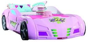 GPS RACER postel ružová