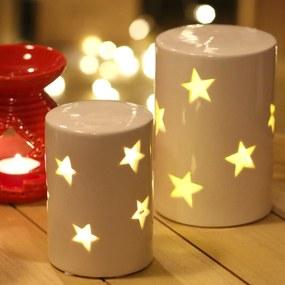 Svietiaca LED lampa s hviezdami - menšia