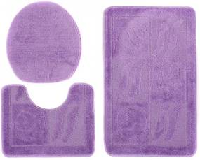 Kúpeľňové predložky 1107 tmavo fialové 3 ks, Velikosti 50x80cm