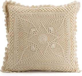 JAHU Vankúšik z pleteniny Gita béžová, 40 x 40 cm
