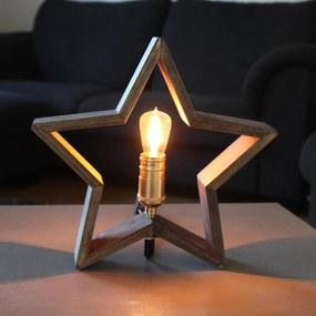 STAR TRADING Stolná lampa v tvare hviezdy Lysekil Nature