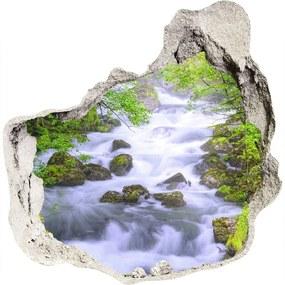 Nálepka fototapeta 3D výhľad Horská rieka WallHole-75x75-piask-69563755