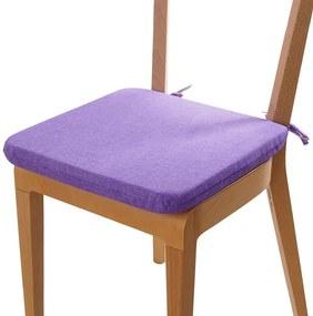 Podsedák s prateľnou obliečkou fialová 1 ks