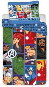 JERRY FABRICS 3D Obliečky Avengers Polyester 140/200, 70/90 cm