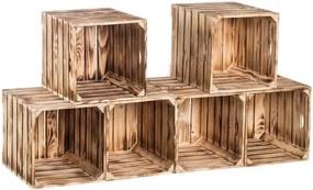 Drevobox Drevené opálené debničky botník 120x60x35 cm