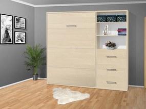 Nabytekmorava Sklápacia posteľ VS 2054 P - 200x160 cm nosnost postele: štandardná nosnosť, farba lamina: breza 1715