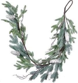 Vianočná dekorácia v tvare jehličnaté girlandy Ego Dekor, výška 120 cm