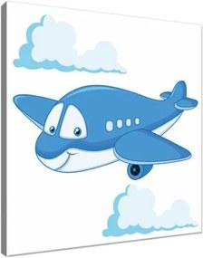 Obraz na plátne Modré lietadlo 30x30cm 3100A_1AI