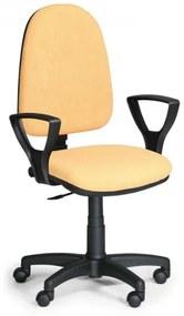 Pracovná stolička Torino s podrúčkami žltá