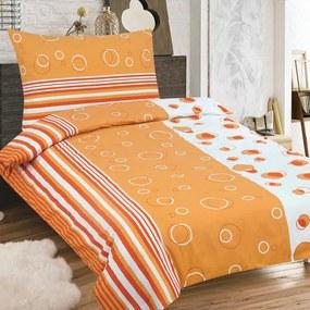 HOD Obliečky MARCELA oranžová Zips Bavlna 70x90 140x200 cm