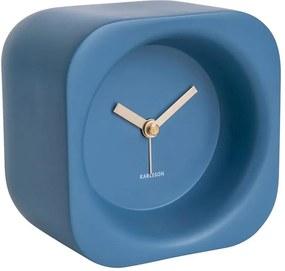 KARLSSON Budík Chunky Polyresin modrá