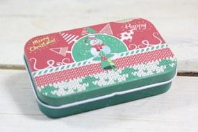 "Plechová krabica ""MERRY CHRISTMAS"" (9,5x2,5x6 cm) 2."