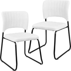 en.casa ® Sada dizajnových koženkových stoličiek - 2 kusy - 78 x 095df845c5