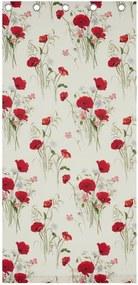 Závesy Catherine Lansfield Wild Poppies, 168 x 183 cm