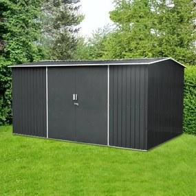 Záhradný domček na náradie, krídlové dvere AVENBERG HUNTER G1 4,1 x 2,6 m ANTRACIT
