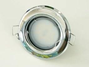 T-LED LED bodové svetlo do sadrokartónu 5W chróm 230V Farba svetla: Teplá biela