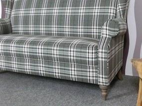 (2281) COSIMO elegantná kockovaná pohovka šedá