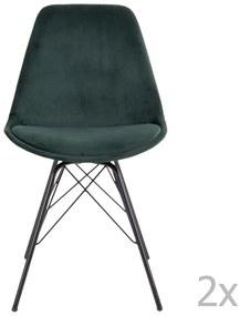 Sada 2 tmavozelených jedálenských stoličiek House Nordic Oslo