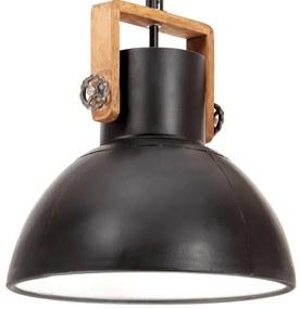 vidaXL Industriálna závesná lampa 25 W čiernočierna 40 cm okrúhla E27