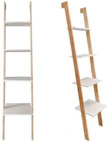 ModernHOME Knižnica, police, bambusový rebrík RH1902-17