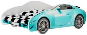 MAXMAX Detská autoposteľ S-CAR 140x70 cm - modrá