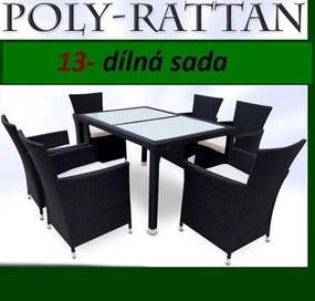 Záhradný ratanový nábytok TAMARA> varianta čierna