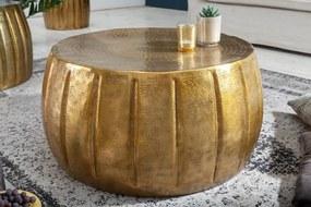 Dizajnový konferenčný stolík Maroko 65 cm zlatá farba