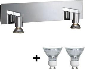 Philips Massive Massive 34026/11/10 - Kúpeľňové osvetlenie zrkadla HORIZON 2xGU10/50W/230V M4754