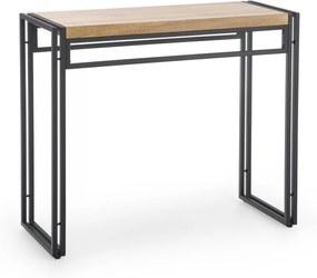 Konzolový stolík BOLIVAR KN1 dub zlatý / čierna Halmar