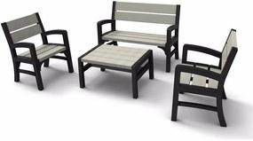 KETER MONTERO Set záhradný z lavičiek, grafit/sivá 17205049