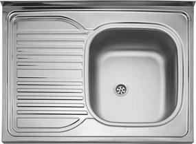 Kuchynský nerezový drez Sinks CLP-D 800 M matný pravý